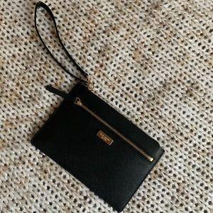 New Kate Spade black leather Wristlet